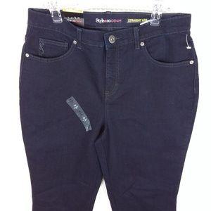 Stye & Co Jeans Tummy Control Dark Rinse NWT -XX